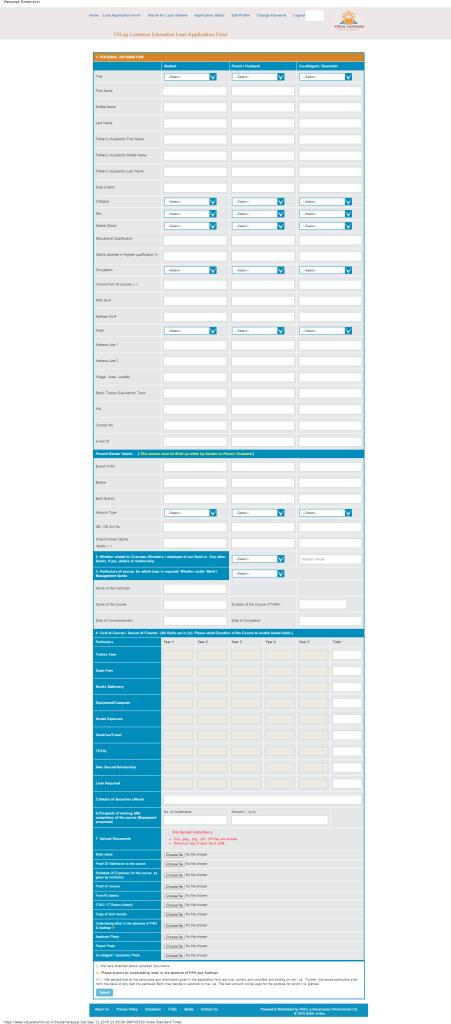 PMVLK - Loan Application Form