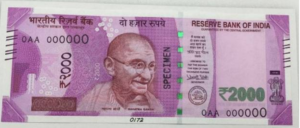 New 2000 Rs. Note in India