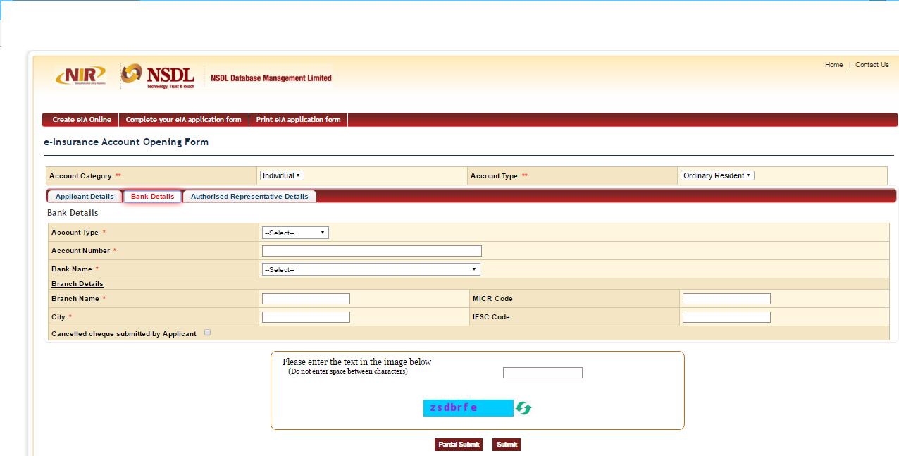 einsurance-account-bank-details