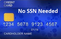 Credit Card - No SSN Required