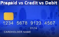 Prepaid vs Credit vs Debit Card