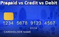 Prepaid vs Credit vs Debit Card