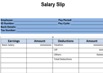 Forged Pay Slip